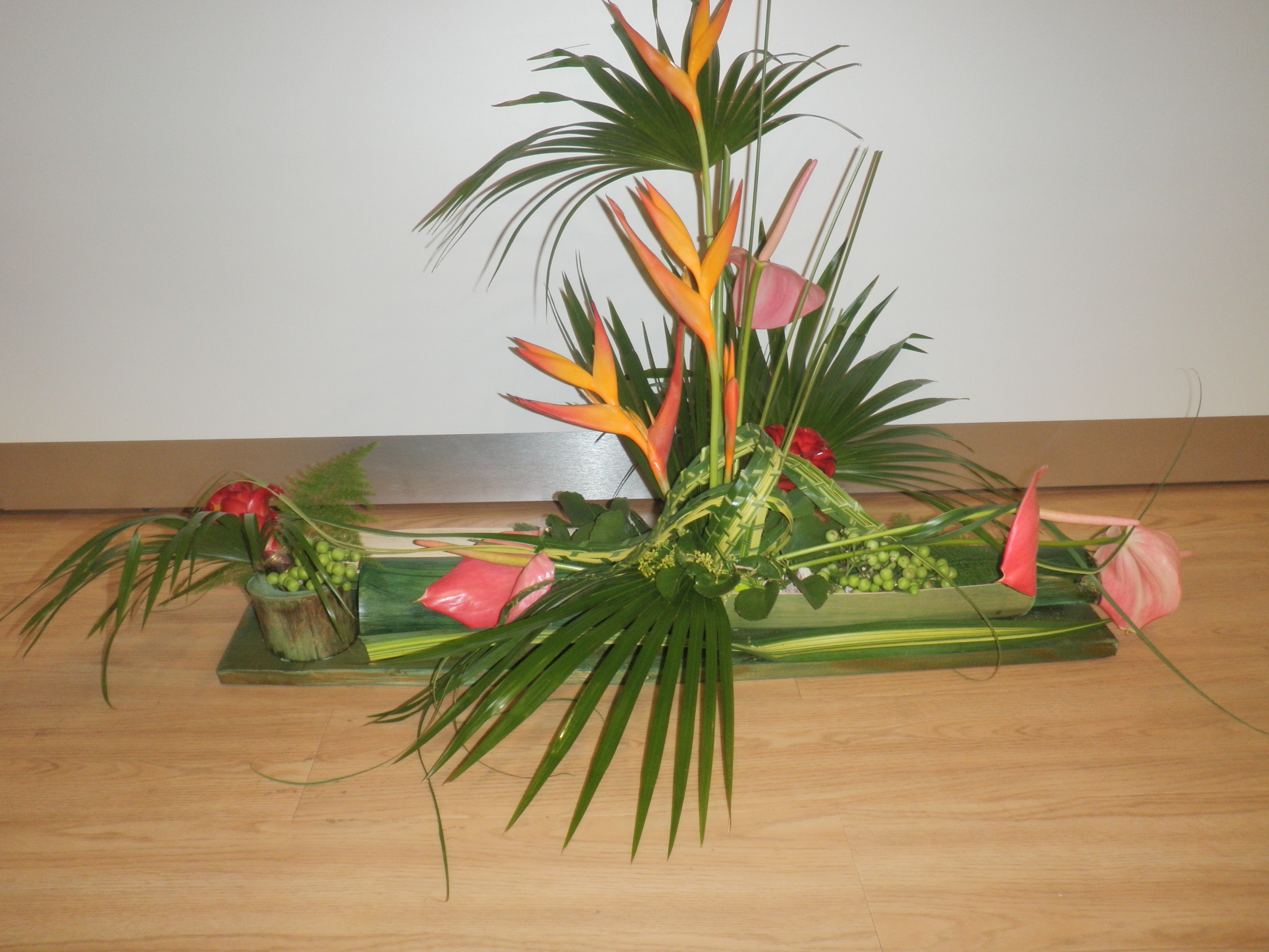 Composition floral decoration guadeloupe alchimy for Compositions florales